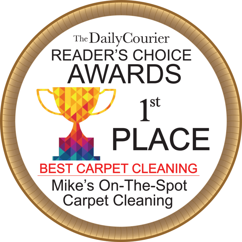 Mike's on the Spot Carpet Cleaning awarded as 1st Place on Best Carpet Cleaning in The Daily Courier Reader's Choice Awards.